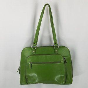 Franklin Covey bag laptop green vegan leather